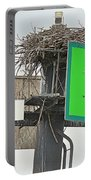 Osprey At Its Nest In A Navigation Marker Portable Battery Charger