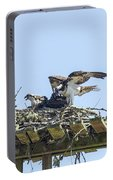 Osprey Family Portrait No. 1 Portable Battery Charger