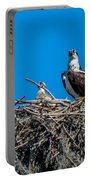 Osprey With Chicks Portable Battery Charger