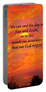 Our God Reigns Portable Battery Charger