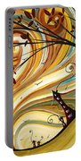 Out West Original Madart Painting Portable Battery Charger by Megan Duncanson