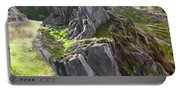 Outcrop In Snowdonia Portable Battery Charger