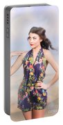 Outdoor Fashion Portrait. Spring Twilight Beauty Portable Battery Charger