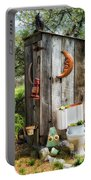 Outhouse In The Garden Portable Battery Charger