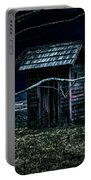 Outhouse In The Moonlight With Flying Crows Portable Battery Charger