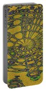 Oval Abstract Maple Leaf  Portable Battery Charger