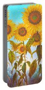 Ovation Sunflowers Portable Battery Charger