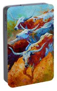 Over The Ridge - Longhorns Portable Battery Charger