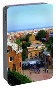 Overlooking Barcelona From Park Guell Portable Battery Charger