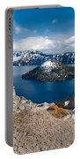 Overlooking Wizard Island In Spring Portable Battery Charger