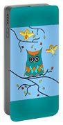 Owl And Birds - Whimsical Portable Battery Charger