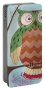 Owl Art Portable Battery Charger