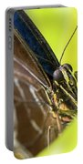 Owl Butterfly In Yellow Flower Portable Battery Charger