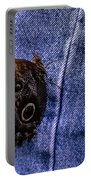 Owl Butterfly On Jeans Portable Battery Charger