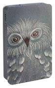 Owl In The Blue Portable Battery Charger by Ginny Youngblood