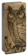 Owl Pyrography Portable Battery Charger