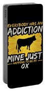 Ox Addiction Funny Farm Animal Lover Portable Battery Charger