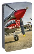 P40 Warhawk And P51d Mustang On The Ramp Portable Battery Charger