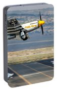 P51 Mustang Little Horse Gear Coming Up Friday At Reno Air Races 16x9 Aspect Signature Edition Portable Battery Charger