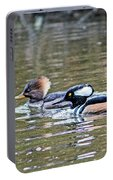 Pa And Ma Hooded Mergansers Portable Battery Charger
