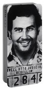 Pablo Escobar Mug Shot 1991 Vertical Portable Battery Charger