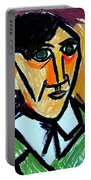 Pablo Picasso 1907 Self-portrait Remake Portable Battery Charger