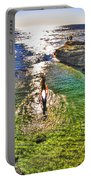 Paddle Boarding At La Jolla Beach Portable Battery Charger