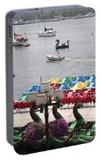Paddleboats Waiting In The Inner Harbor At Baltimore Portable Battery Charger