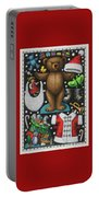 Page 1 Of 2 Teddy Bear Santa Claus Paper Doll Portable Battery Charger