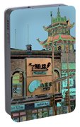 Pagoda Tower Chinatown Chicago Portable Battery Charger by Marianne Dow