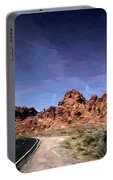 Paint Mixed Valley Of Fire Landscape  Portable Battery Charger