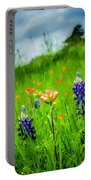 Paintbrush And Bonnets Square Portable Battery Charger