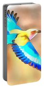 Painted Birds In Skyline Portable Battery Charger