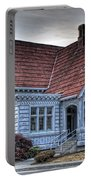 Painted Blue House Portable Battery Charger