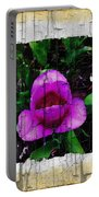 Painted Flower With Peeling Effect Portable Battery Charger