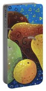 Painted Fruit Portable Battery Charger