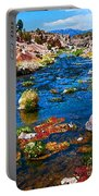 Painted Hot Creek Springs Portable Battery Charger