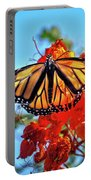 Painted Lady Portable Battery Charger by Robert Bales