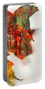 Painted Leaf Abstract 1 Portable Battery Charger