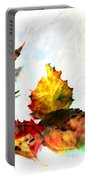 Painted Leaves Abstract 2 Portable Battery Charger