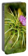 Painted Milk Thistle Portable Battery Charger