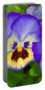 Painterly Pansies Portable Battery Charger