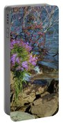 Painted River Flower Portable Battery Charger