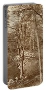 Painted Shore Camps In Sepia Portable Battery Charger
