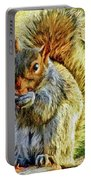 Painted Squirrel  Portable Battery Charger