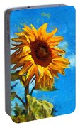 Painted Sunflower Portable Battery Charger