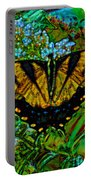 Painted Yellow Swallowtail Portable Battery Charger