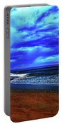 Painterly Beach Scene Portable Battery Charger