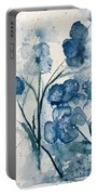 Painterly  Blues Portable Battery Charger
