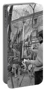 Painters In Montmartre, Paris, 1977 Portable Battery Charger